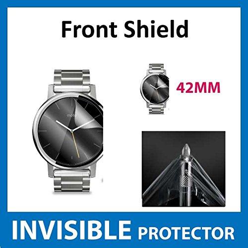 ACE UNSICHTBARE Displayschutzfolie für Ihr Motorola Moto 360 42mm (2nd Gen) Smart Watch (Front) welche aus einem kratzfesten Material hergestellt Wird Gen Invisibleshield