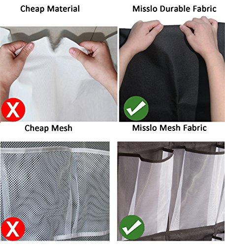 9abfa350592 MISSLO 24 Large Mesh Pockets Heavy Duty Hanging Over the Door Shoe Storage