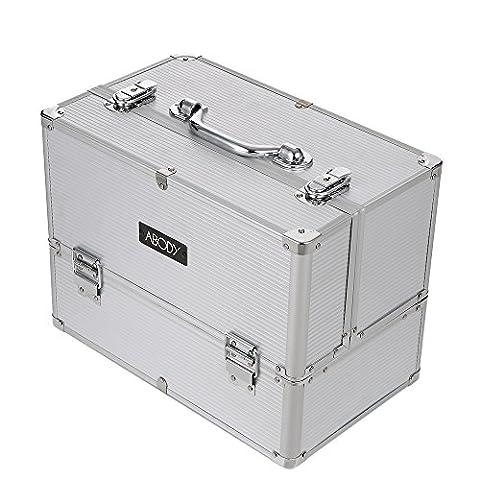 Abody Beauté Maquillage boîte à bijoux Mallette/ coffrets/ boîte à maquillage Vanité Cas Cosmétique Aluminium