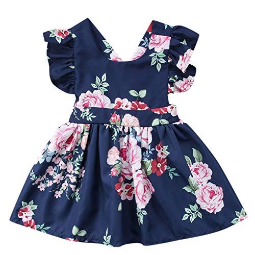 sunnymi ® 0-4 Jahre Kleider Baby Kinder Mädchen Blume Rückenfreie Party Pageant Tutu Kleid Sommerkleid