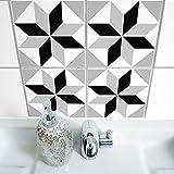 Boubouki Wasserabweisende Fliesenaufkleber Polygon 05 für Bad und Küche | 15 x 15 cm