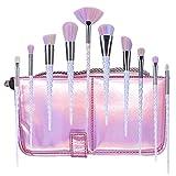Imurz® 10pcs Einhorn Make up Pinsel Kosmetik Frauen Mehrfarbig Make Up Pinsel Kit für Foundation Eyebrow Eyeliner Make Up Pinsel Set Mit Tasche