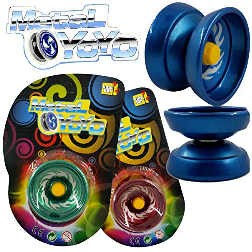 Unbekannt Yoyo JoJo Metall Metallic ca.5cm Mitgebsel Kindergeburtstag - Metallic-yoyo