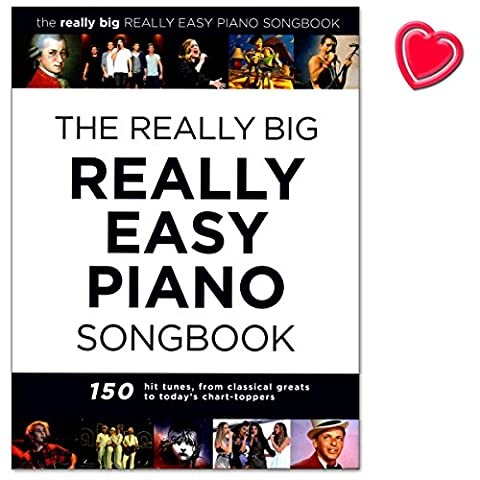 The Really Big Really Easy Piano Songbook – 150 Hit Tunes For Really Easy Piano (with Lyrics And Chords) – PIANO Partition avec coloré Cœur Note Pince