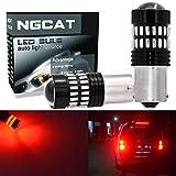 NATGIC Rot 1156 Glühbirnen extrem helle 1200LM 48-SMD 4014 Chipsätze 7506 1095 1141 Glühbirnen mit Projektor für Blinker Signal hinten Unterfahrschutz Rücklicht (2 Stück)