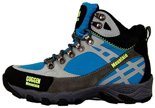 GUGGEN MOUNTAIN Scarpe da escursionismo Scarpe da trekking Scarpe da montagna Mountain Shoe donna M011 Blu