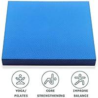 VLFit Almohadilla de Equilibrio Balance Pad/Colchoneta de coordinación- 48cm x 40cm x 6cm - Almohadilla de Ejercicios & Equilibradora de Espuma Trainer - Cojín Oscilante para Terapia Física (Azul)