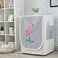 Washing Machine Cover/Dryer Cover, 60 * 55 * 85 cm Waterproof, Dustproof, Sun-Proof Cover 4 Sides-Maximum Protection [Flamingo]