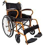 Rollstuhl Leicht Faltende Transportreisen Selbstfahrende Pflege Tragbare Stahlrohrverstärkung Für Ältere Menschen Mit Behinderungen (Style : Big wheel)