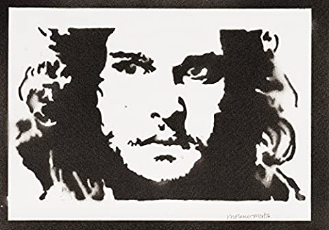 Jon Snow Le Trône De Fer (Game Of Thrones) Handmade Street Art - Artwork - Poster