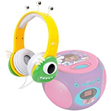 DURAGADGET Auriculares mágicos para niños para Reproductor de CD Doctora Juguetes | Frozen | Spider-Man | Cars | Princesas Disney`| Avengers Colores divertidos. Diseño monstruo verde.
