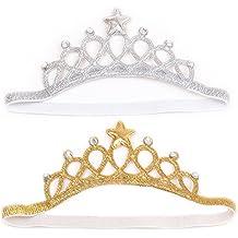 2 Piezas Bebé Niña Diadema de la Corona / Venda del Pelo / Headwrap / Accesorios de Decoración para Fiesta de Cumpleaños y Foto de Familia