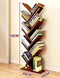 Königlich HWF Kinder Bücherregal Baum Form Bücherregal Bücherregal Wohnzimmer Regal Stand Schlafzimmer Moderne minimalistische Persönlichkeit (Farbe : Teak Color)