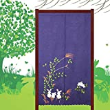 BGAOYUHUA Stickerei-Jacquard-Gewebe-Trennvorhang-Halbe Türvorhang, Elegante Tür-Vorhang-Licht-filternde Vorhang-Platte, Restaurant-Café Einzelne Plattenvorhänge,A1_85*120cm
