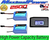 MaximalPower Best Selling Gifi Power 2x LiPo Battery and a Charger For PARROT AR.DRONE 2.0 & 1.0 Quadricopter (2 Battery 2600mAh + LCD Balancer Charger for 7.4V-11.1V Li-po Battery)