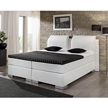 boxspringbett exzellenz kunstleder wei 180 x 200 cm k che haushalt. Black Bedroom Furniture Sets. Home Design Ideas