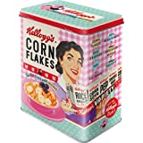 Nostalgic-Art 30147 Kellogg's - Happy Hostess Corn Flakes  | Vorratsdose L | Aufbewahrungs-Box | Cornflakes-Dose | Blech-Dose | Metall