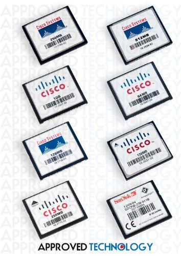 512MB Cisco Original Refurb Compact Flash Card for Cisco 7301 Router MEM-7301-FLD512-R