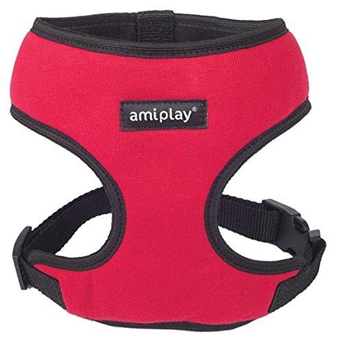 Hundegeschirr Brustgeschirr AmiPlay Scout DENVER 6 Größen und 4 Farben (L 45-60cm, Rot)
