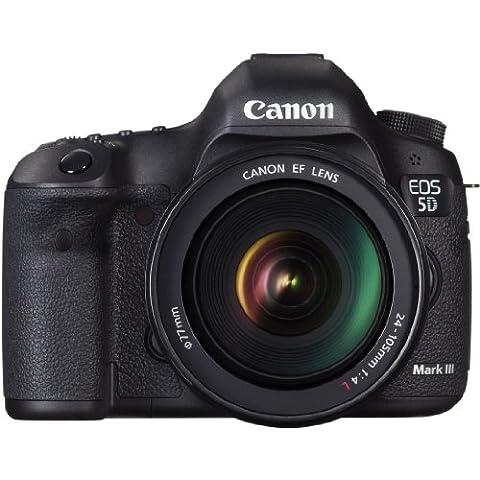 Canon EOS 5D MARK III + EF 24-105mm f/4L IS USM - Cámara digital (22.3 MP, SLR Kit, CMOS, 4.3 x, 18/13, zoom estándar) Negro