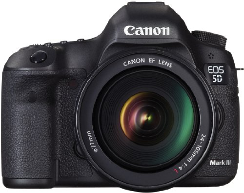 Canon EOS 5D Mark III SLR-Digitalkamera (22,3 Megapixel, 8,1 cm (3,2 Zoll) Display, HDR-Modus, DIGIC 5+ Prozessor) inkl. Kit 24-105mm Zoomobjektiv (Kit Iii Eos 5d Mk Canon)