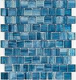 Mosaik billig Glas für Wand und Boden mv-driobleu