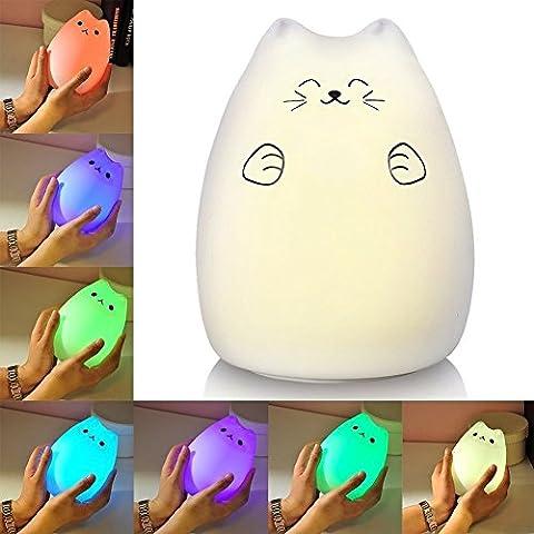 ALFALED LED Lampe de Nuit Silicone Portable doux bébé lumière