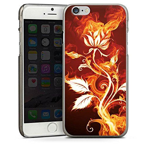 Apple iPhone 4 Housse Étui Silicone Coque Protection Rose Feu Feu CasDur anthracite clair