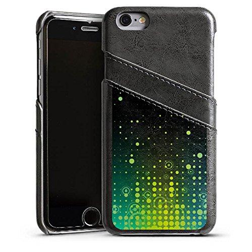 Apple iPhone 4 Housse Étui Silicone Coque Protection Points Cercles Motif Étui en cuir gris