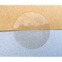Minilabel 50mm Round Gloss Clear Transparent Seal Stickers (Pack of 50 Circular Labels)
