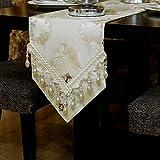 LCPG Kunst-Spitzendekoration der Tabellenflagge abstrakte handgemachte, Couchtisch, Lange Tischdekoration kann besonders angefertigt Werden (Farbe : B, größe : 33 * 240CM)