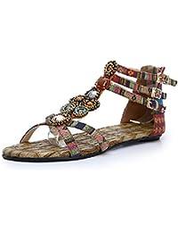 RUGAI-UE Merletto trasparente del piatto del sandalo delle donne della pompa del tallone delle donne, nero, US9/EU40/UK7