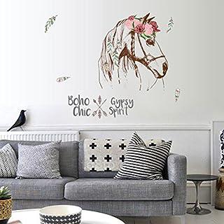 Wandsticker Pferd Boho Wandtattoo Wandbilder Aufkleber Für Tier Fans