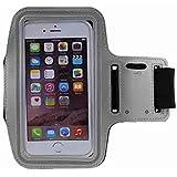 COOSA Smartphone brazal de los deportes y la titular de la clave para Apple Iphone5 / 5S y otros similares Tamaño teléfonos inteligentes, con la correa de velcro ajustable para Correr, Ciclismo, Una Buena Condición, etc. (gris)
