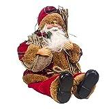 WANNA.ME Bambola di Natale Babbo Natale Seduto, Tessuto Babbo Natale Decorazioni per Bambole di Natale Giocattoli per Bambini Adatto Funzionale