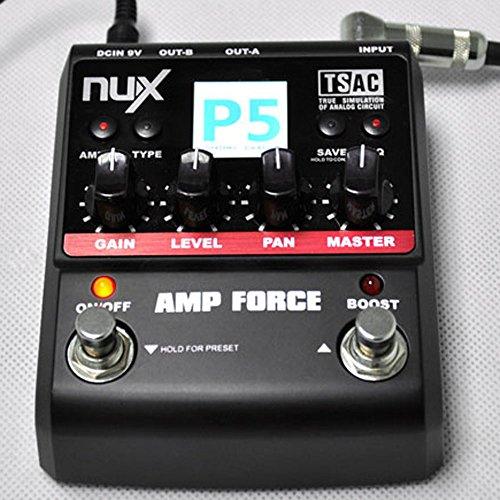 Anself NUX Chitarra AMP Forza Modeling Amplifier Simulator elettrico Effector pedale 12 Modelli a 3 (12 Guitar Amp)