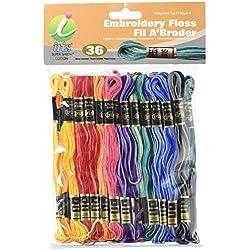 IRIS gramos 5hebras Madejas bordado, 100% algodón,, 8m, 36unidades