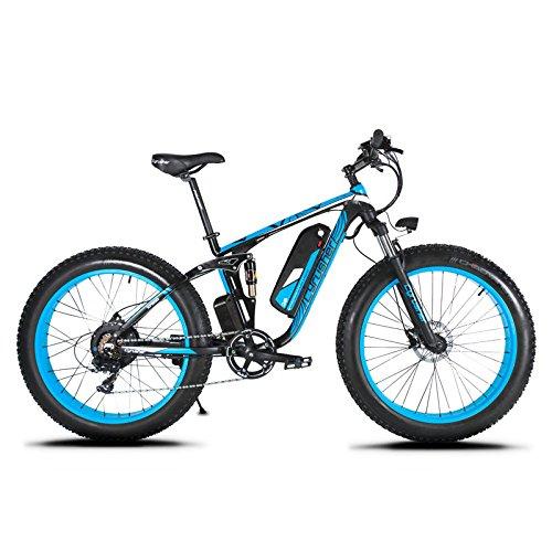 Neumático al aire libre 26 x 4.0 Bicicleta de montaña eléctrica Extrbici® XF800 1000W 48V 13A Mountain Bike Electric Limited Venta mundial Soporte de carga USB con suspensión completa y Smart LCD