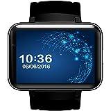HOIHO intelligente Uhr Telefon MTK6572 Doppelkern 2.2 Zoll HD IPS LCD Schirm 900mAh Batterie 512MB RAM 4GB Rom Kamera Android 4.4 OS 3G WCDMA GPS WIFI ( Color : Black )