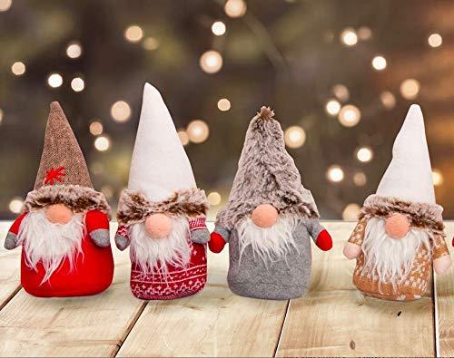 Set mit 4 oder 8 Weihnachtswichteln/Weihnachtskobolden. Weihnachtsdekoration. Höhe 20 cm. Geschenkidee. Wichtel Kobold. (4 Wichtel)