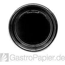 30 Party-Teller Plastik rund 22 cm schwarz