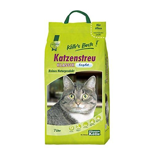 Kölle's Beste Katzenstreu Klassik Light - 7 Liter - Einstreu für Katzen - Gute Klumpeigenschaft und Geruchsbindung - Klumpstreu für Katzen - Hygienestreu Katzenstreu Klassik Light