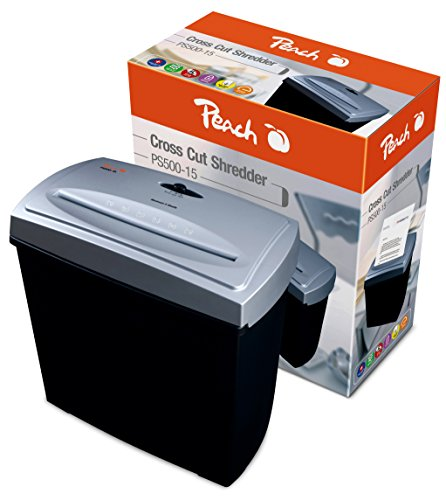 Neue Das Ist 60 40 (Peach PS500-15 Partikelschnitt Aktenvernichter | 5 Blatt | 11 Liter |  4x40 mm Partikel (P-4) | Papier und Kreditkarten | schnell und sicher | geeignet für neue Datenschutzgrundverordnung DSGVO 2018)