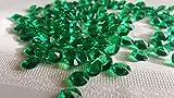 NUOVI 500 diamanti pietre decorative Acrilico Confetti Decorativi DECORAZIONE TAVOLO CRISTALLO 10 mm per matrimonio (verde) Decorazione natalizia con sacchettini TRASPARENTE