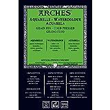 Arches 1710254 Aquarellpapier im Block (26 x 36 cm, 113 x 914 cm, 185 g/m² Feinkorn) 16 Blatt naturweiß