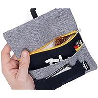 Tabaktasche für Drehtabak - Drehertasche mit Fächern für Filter, Papier und Feuerzeug