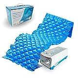 Mobiclinic Colchón antiescaras con alternancias de Celdas | Compresor Incluido | Peso máximo soportado 135Kg | Color Azul | Marca