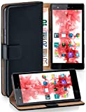MoEx Étui Folio à Support vidéo Compatible Wiko Pulp 4G | Fente pour Argent/Cartes, Noir