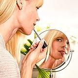Lumaland formschöner Standspiegel Kosmetikspiegel 10fach Vergrößerung - 3