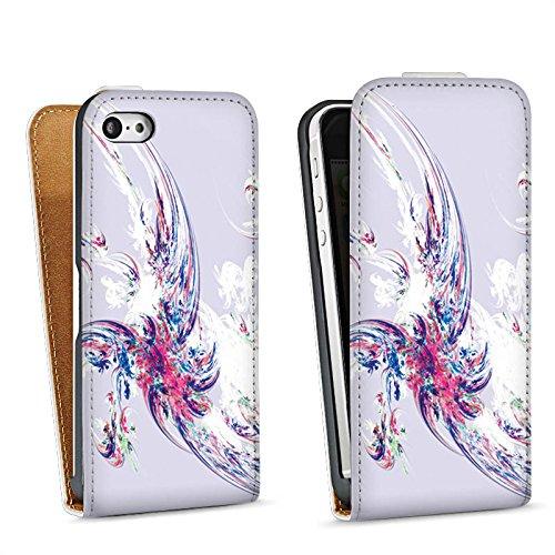 Apple iPhone 5s Housse Étui Protection Coque Design Motif Motif Sac Downflip blanc